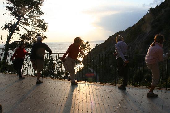 La Francesca: Après une marche sur la terrasse du resto