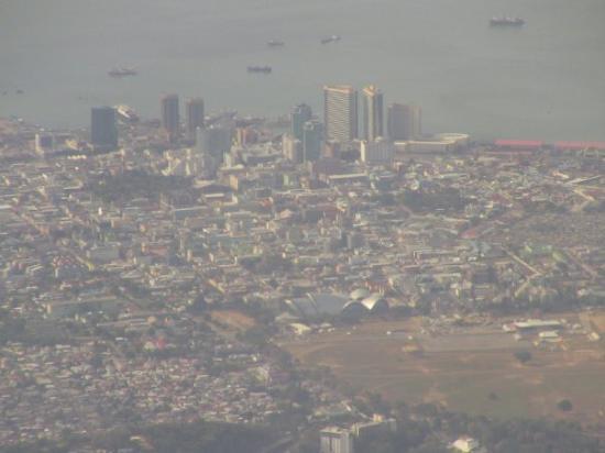 Leaving in plane looking at Port of Spain