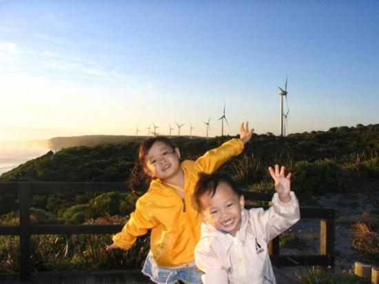 Albany, Australië: 我要像风车般转动。