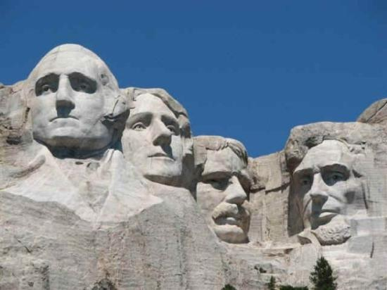 Keystone, Dakota do Sul: George Washington, Thomas Jefferson, Theodore Roosevelt, and Abraham Lincoln