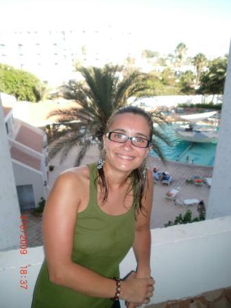 Hotel Adrar : vista da varanda do quarto de hotel..sempre piscina =P