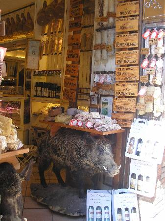 store cheese and salami of wild boar