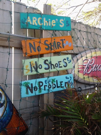 The Sign Says It All Picture Of Archies Seabreeze Fort Pierce