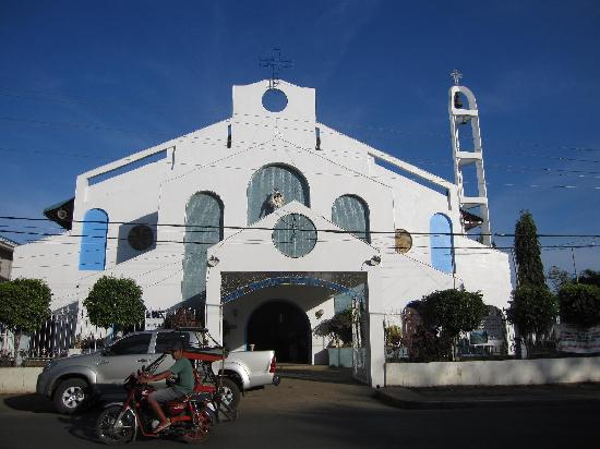 Iloilo City, Filippinene: 街の中心にある教会 Estancia Church