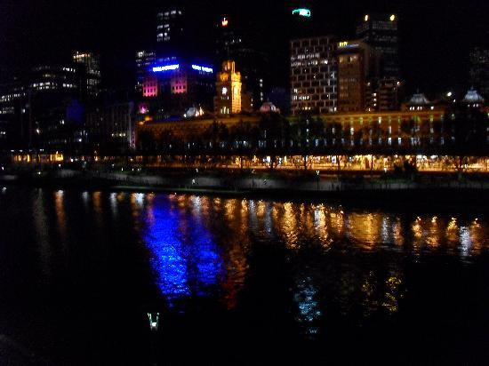 The Langham, Melbourne: Night view from the south bank