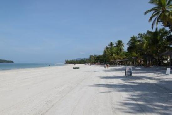 The beach in front of Malibest Resort