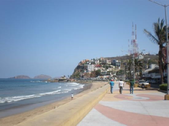 Old Mazatlan: The Paseo. This was directly across from our hotel.