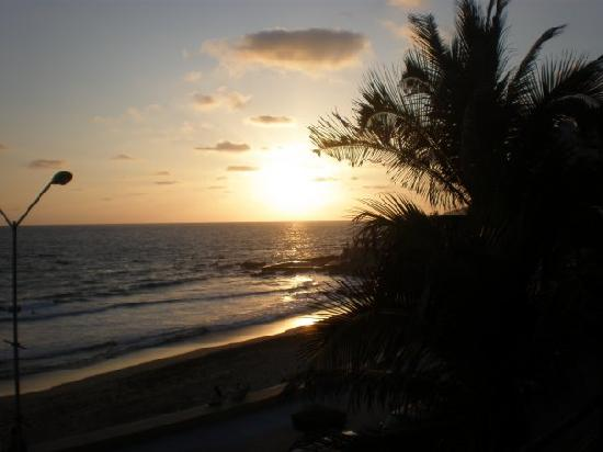 Old Mazatlan: View from our balcony at sunset