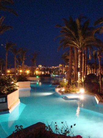 Siva Port Ghalib : Piscine de nuit