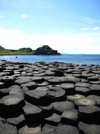 Bushmills, UK : The Giant's causeway is amazing.  It is a bunch of hexagonal rocks that formed from lava many ma