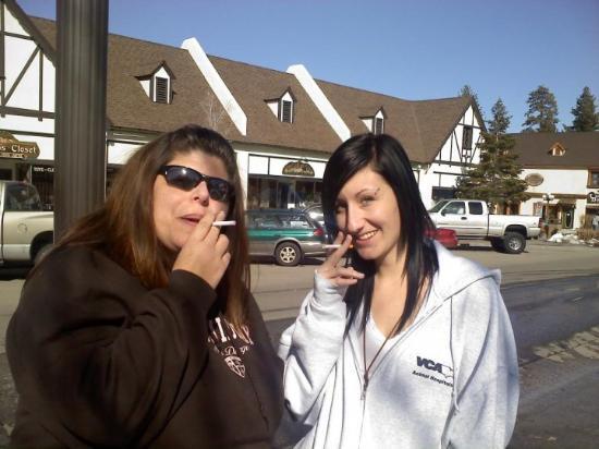 Big Bear Region, CA: fun with candy cigs lol..