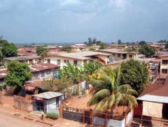 A view of Benin City from the Polytech.