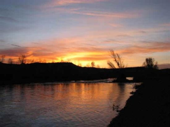 Rio Verde, AZ: sunrise on the Verde River