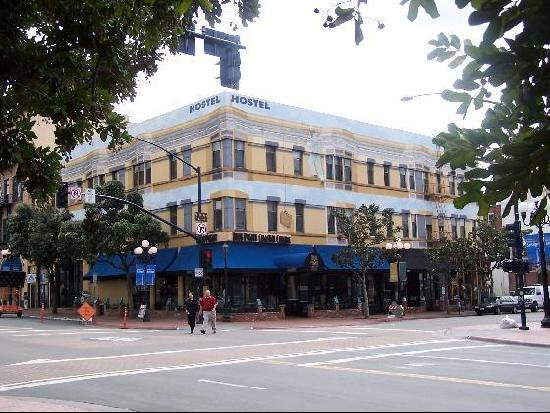 Hostelling International San Diego Downtown: Corner of 5th and Market