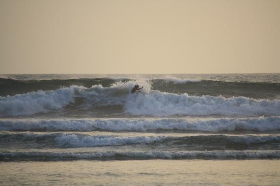 Giardino Tropicale: urfing at sunset on playa guoines