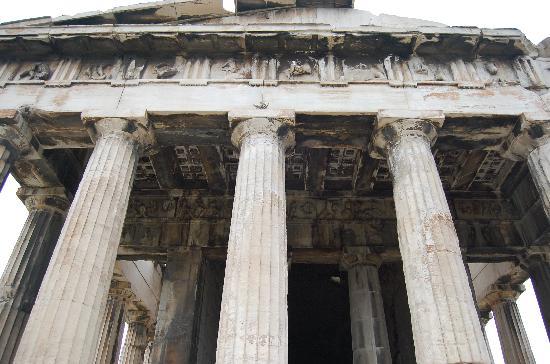 Temple of Hephaestus (Thiseio): Temple front