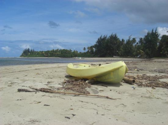 boat in Luquillo beach