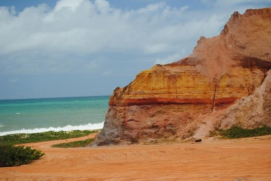 Gunga Beach: Praia do Gunga, Brazil.  The cliffs are made up of different colored sands.
