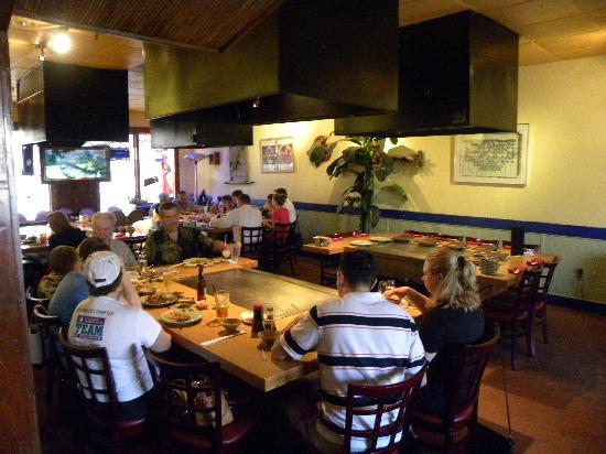Blue Fugu Japanese Steakhouse: Hibachi grills great for family or large groups