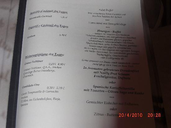Alpenhotel Zechmeisterlehen: speisekatre vom letzten abend