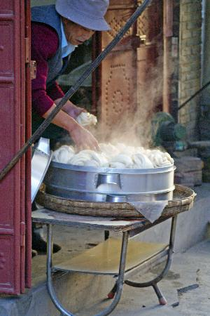 The Linden Centre: Steaming buns early in the day.