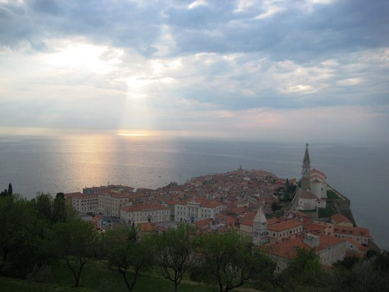 Hotel Piran: The view from the town walls - well worth the walk up.