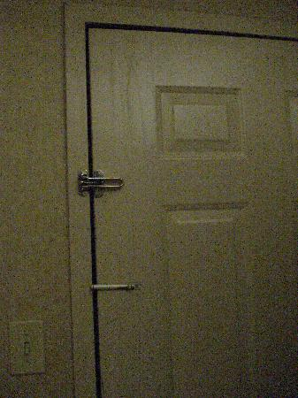 Quality Inn & Suites: The water marks inside the exterior door