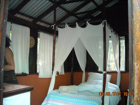 Rio Bec Dreams: One of the cabins - interior