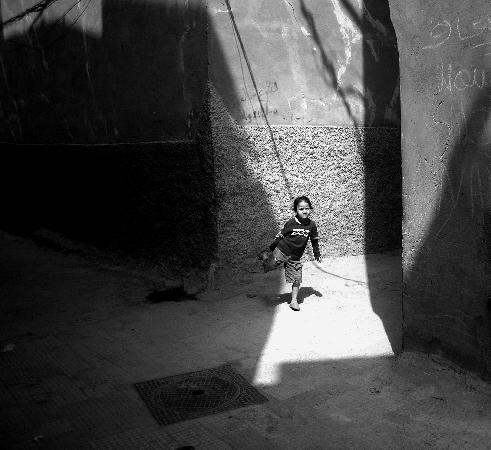 Marrakech, Morocco: girl in light