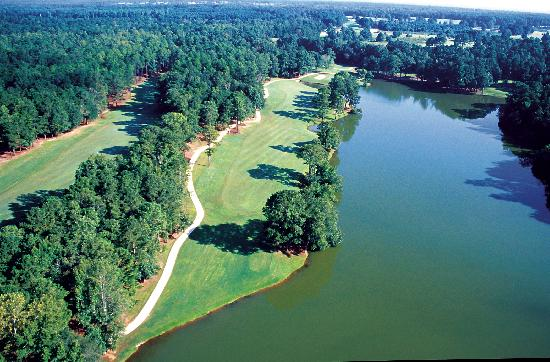 Callaway Gardens Golf Aerial Of The Signature Hole 15 On Mountain
