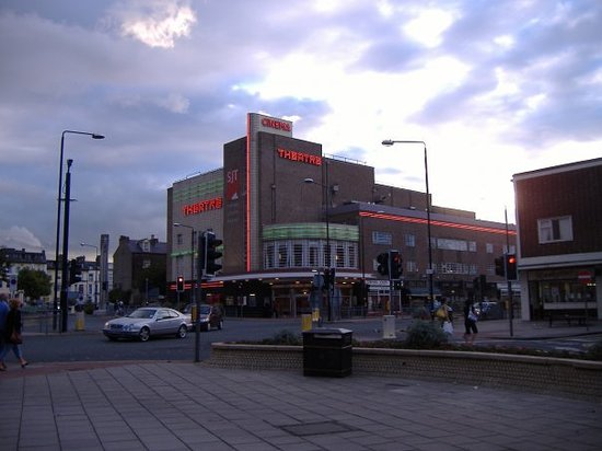 Scarborough, UK: The Stephen Joseph Theatre, town centre