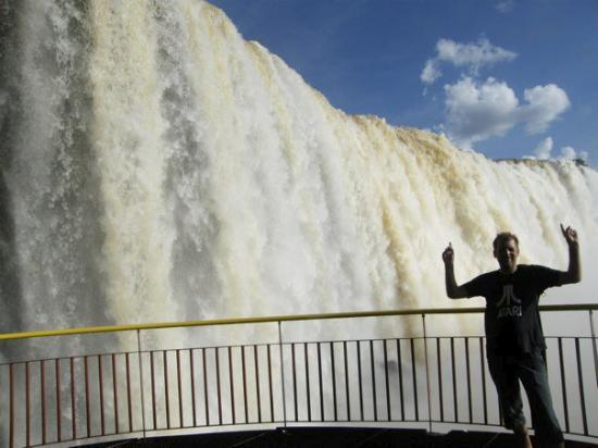 Foz do Iguacu, PR: René being impressed!
