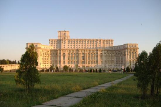 Bucharest: The government building