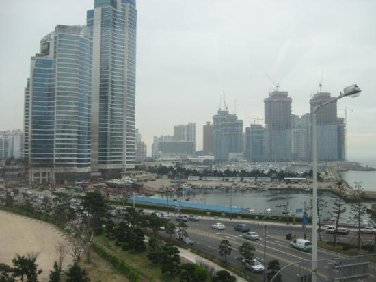 Busan, Zuid-Korea: views of the Gwangalli area