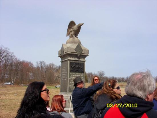 Gettysburg militære nasjonalpark: phil told us this was an eagle at the ready