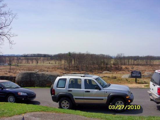 Gettysburg militære nasjonalpark: another picture from on top of the rocky ridge