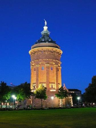 Mannheim, Germany water tower.