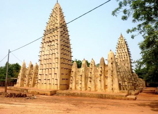 Bobo Dioulasso, Burkina Faso: Mud mosque, Bobo