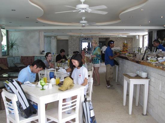 Indigo Beach: The interior of the restaurant