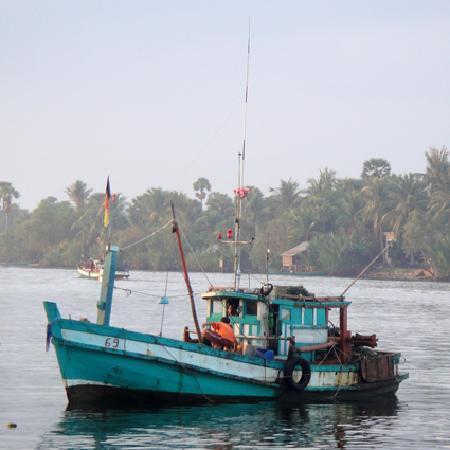 Kampot, Cambodia: Fishing Boat