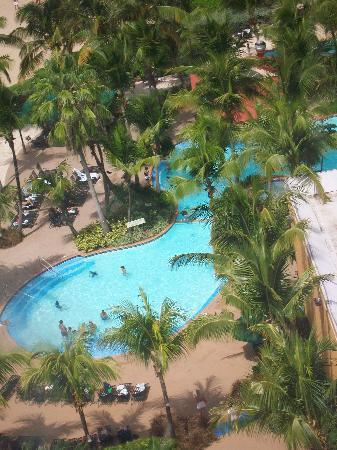 Isla Verde, Puerto Rico: View by elevator from 12th floor