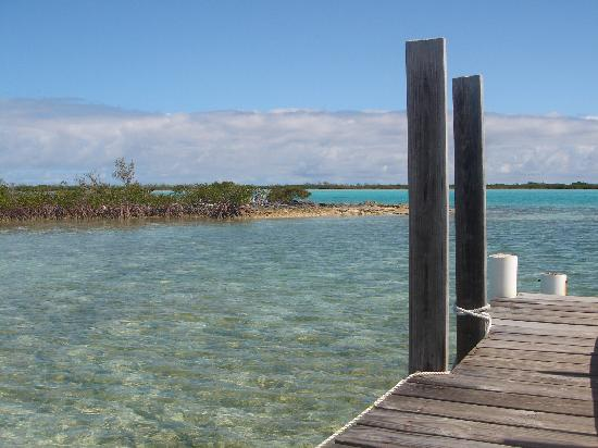 Exuma Vacation Cottages: The view from the dock in the morning