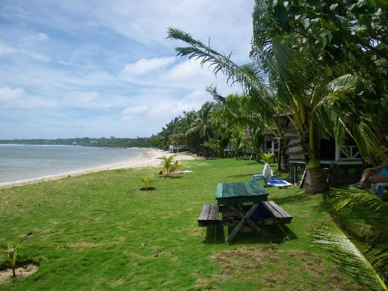 Tailua Beach Fales: The beach and your picnic table