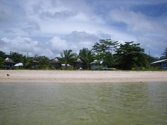 Tailua Beach Fales: The view from the water