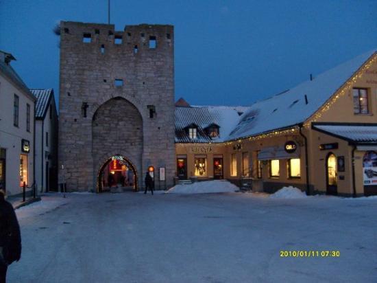 Visby, Svezia: På väg till jobbet!