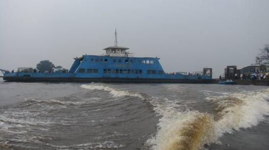 Crossing the river from Kinshasa to Brazzaville.