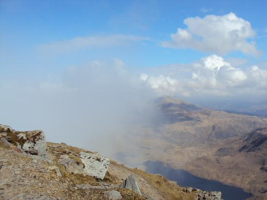 Bron Eryri: Crib Goch, Snowdon, shrouded in mist