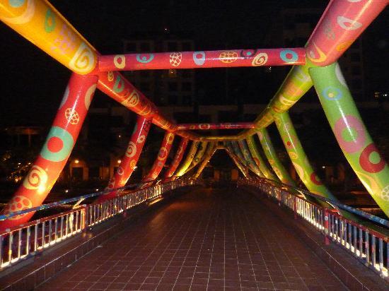 Hotel Miramar: 'Bouncy Castle' Bridge to Robertson Walk