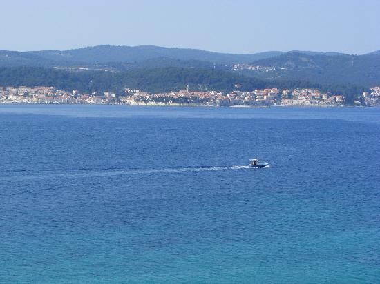 Hotel Orsan : View across from Balcony to Korcula