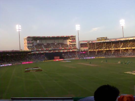 Ahmadabad, Indie: motera stadium from upper pavillion